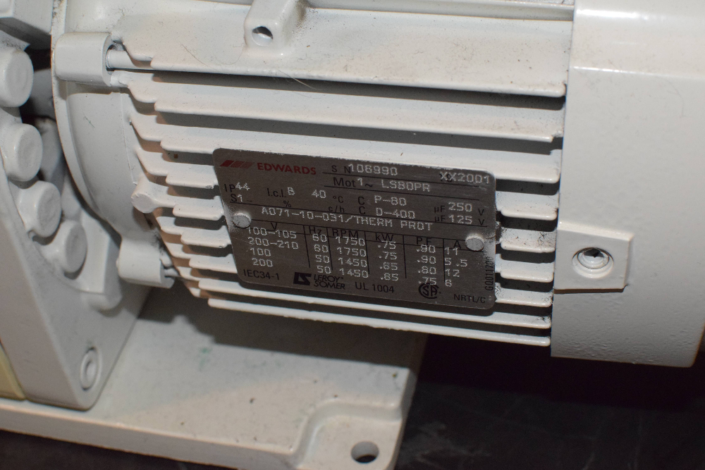 Edwards 18 E1M18 Single Stage Rotary Vacuum Pump