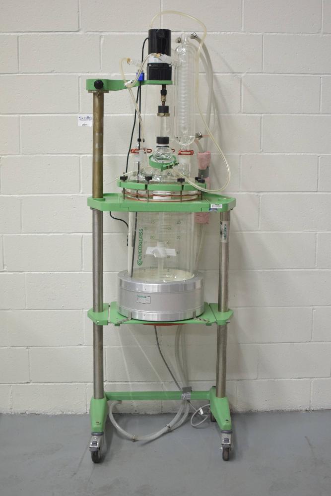 Chemglass 30 Liter Glass Vessel Process Reactor