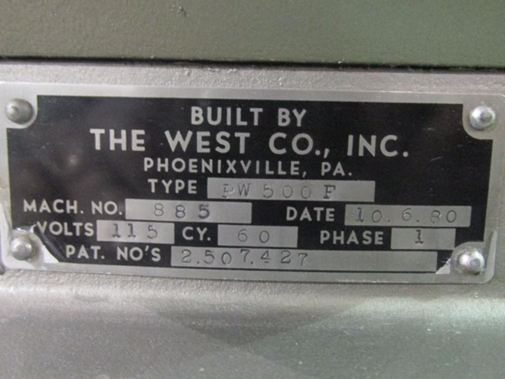 West Co. PW500F Capper