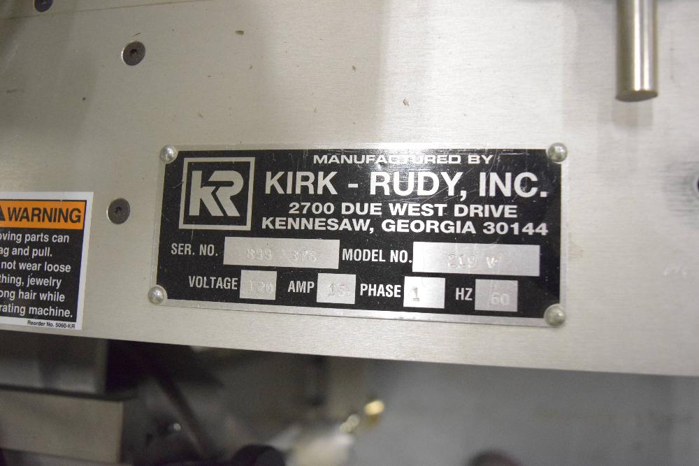 Kirk Rudy 219V Plow Folder