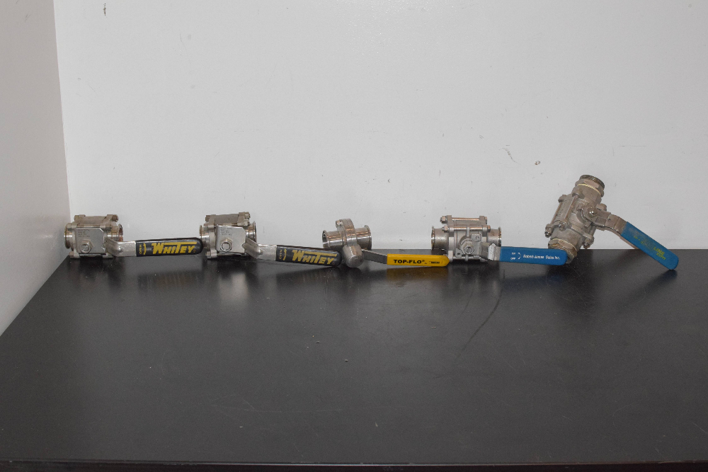 Lot of (5) Fittings with Handle lever