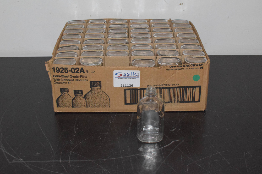 Lot of (14) Sani-Glas Ovals-Flint, 6 ounces