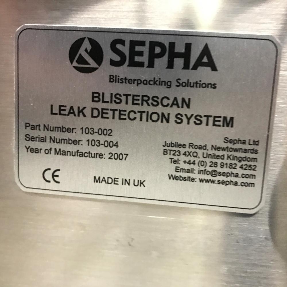 Sepha Blisterscan Leak Tester