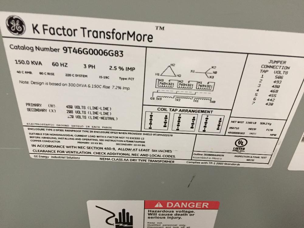 Kohler 125KW Natural Gas Generator