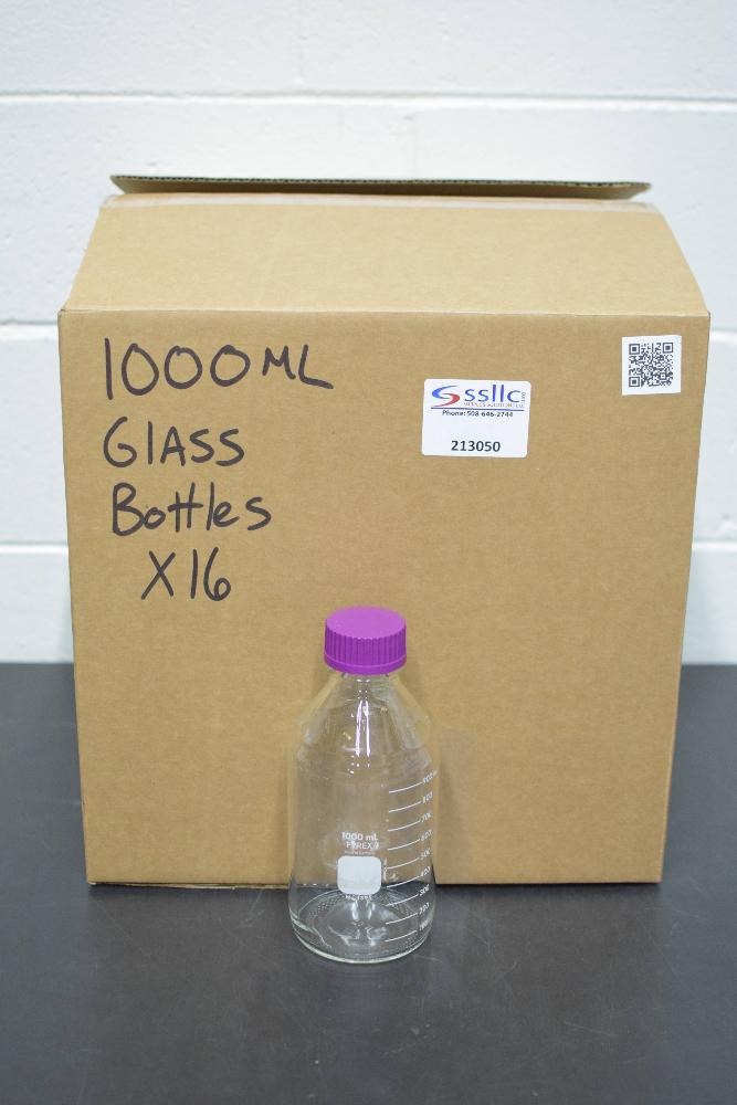 Lot of (16) Pyrex 1000ml Glass Bottles
