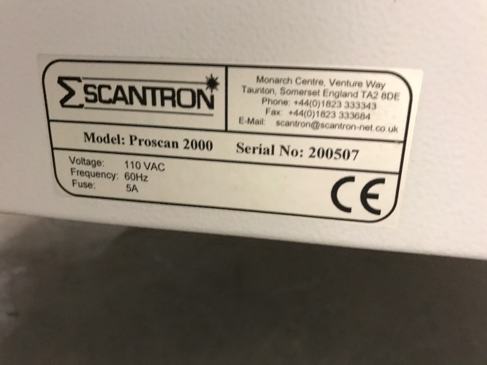 Scantron ProScan 2000 Three Dimensional Surface Measurement System
