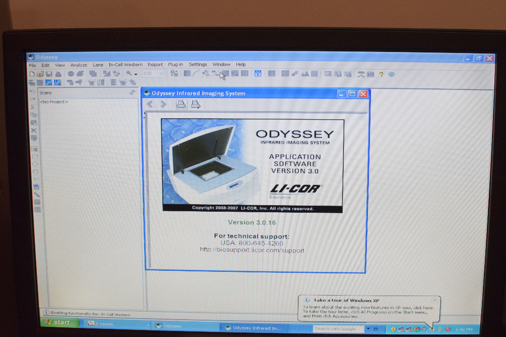 Li-Cor model 9120 Odyssey Infrared Imaging System