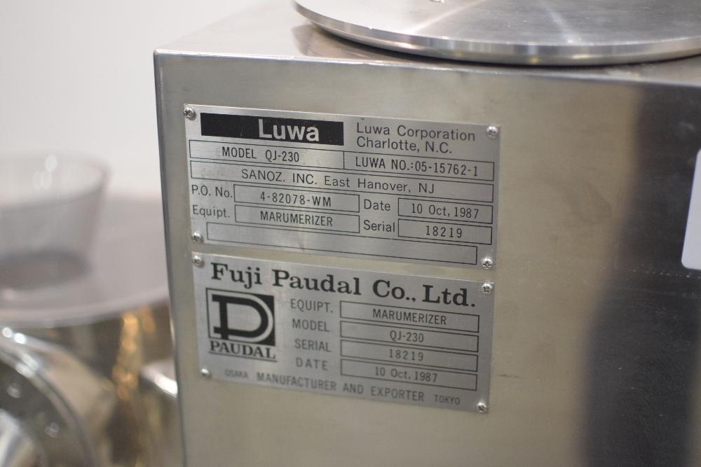 Luwa Corporation QJ-230 Marumerizer