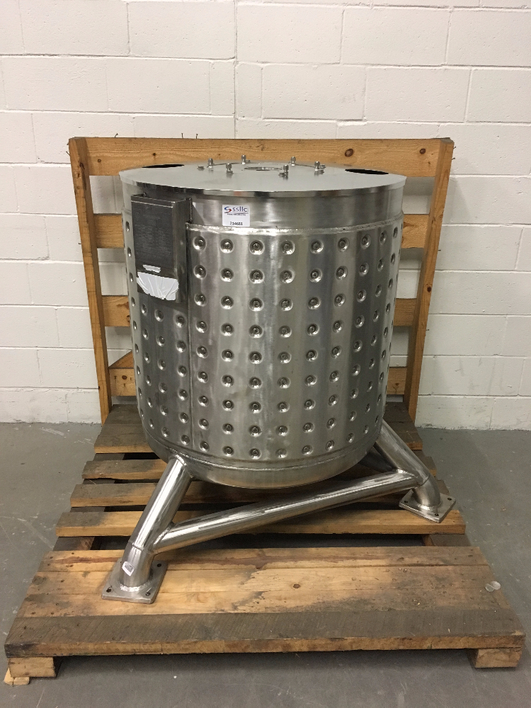 Stainless Technology 300 Liter Open Top Dimpled Tank