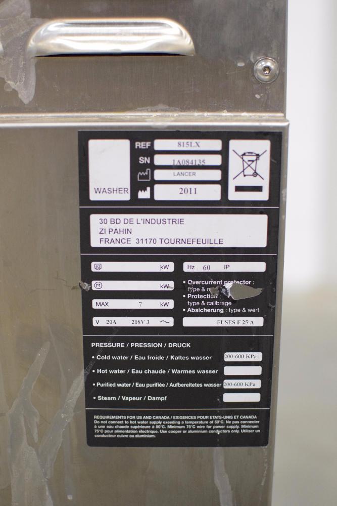Lancer 815LX Undercounter Glassware Washer