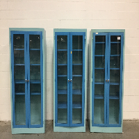 Lot of (3) Glass Door Casework