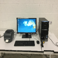 Computer System with Label Printer and Barcode Scanner