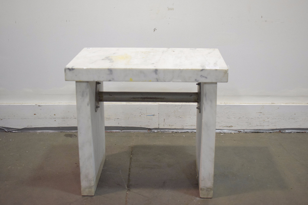 Captivating 3 Ft Marble Balance Table