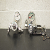Lot of (2) Compressed Gas Regulators With Gauges