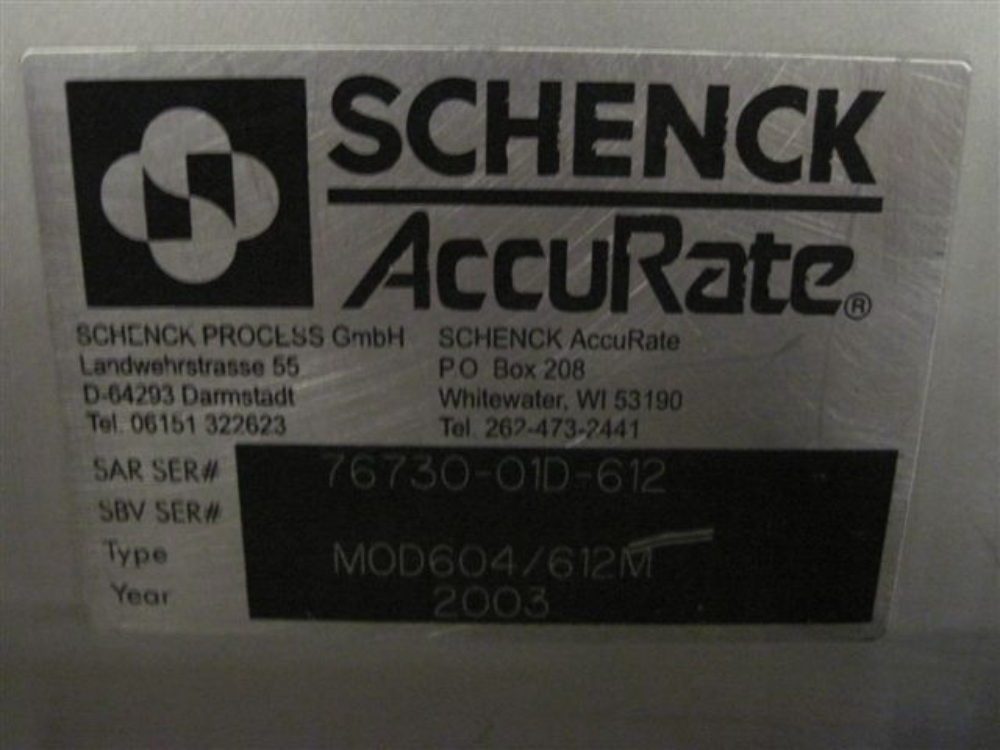 Schenck Accurate Model 604/612M Feeder