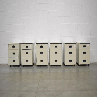 Lot of (6) 3 Drawer Portable Filing Cabinets