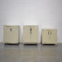 Lot of (3) 2 Door Portable Filing Cabinets