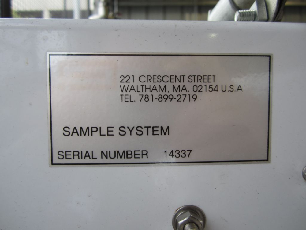 Panametrics Oxygen Analyzer Sample System