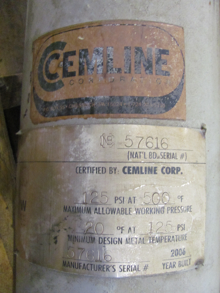 Cemline Corp. Heat Exchanger