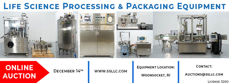 Life Science Processing & Packaging Equipment Timed Online Auction