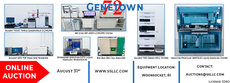 Genetown 72 Online Lab Equipment Auction Event