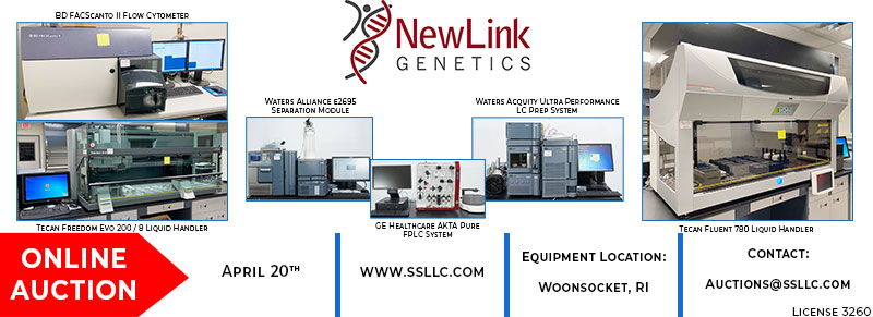 Former Assets of Newlink Genetics Online Auction