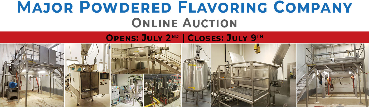 Major Powdered Flavoring Company Online Auction