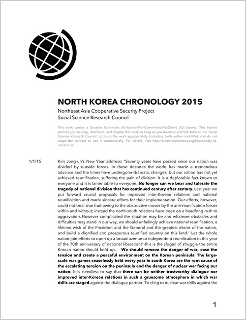 North Korea Chronology