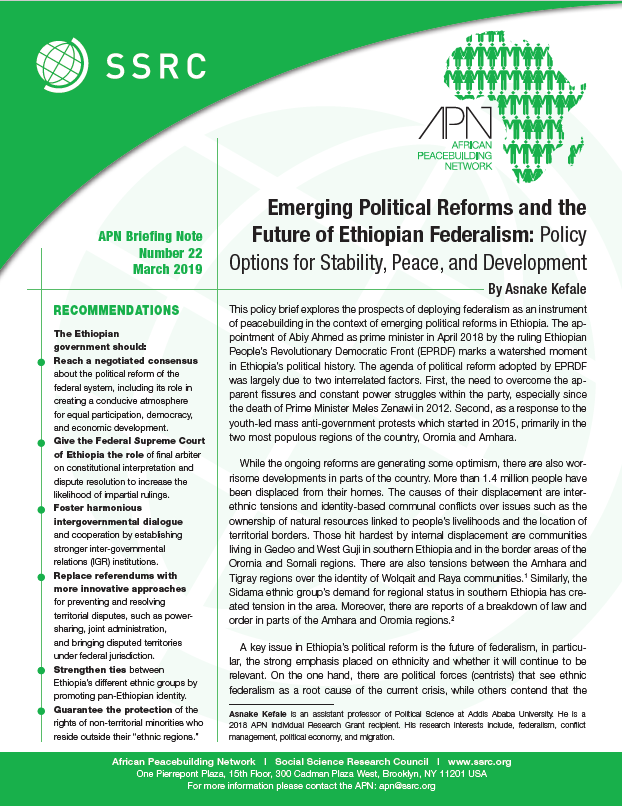 Emerging Political Reforms and the Future of Ethiopian