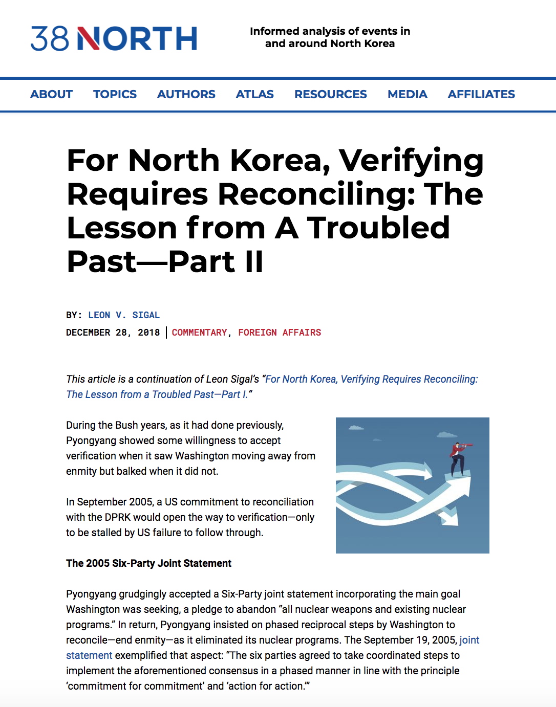 For North Korea, Verifying Requires Reconciling: The Lesson from A