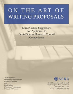 On the Art of Writing Proposals | Social Science Research
