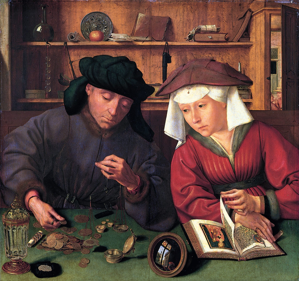 """The Moneychanger and his Wife."" Quentin Massys, 1514. 