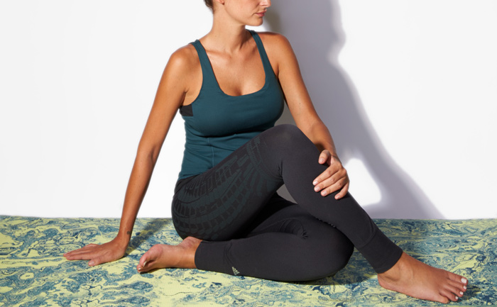 Yogi Yin tank + Small All-over Print long tights