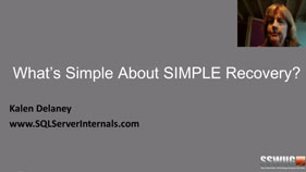 What's Simple About Simple Recovery?