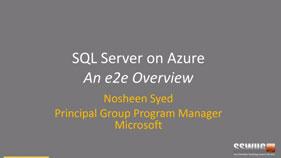 SQL Server in Azure Virtual Machine