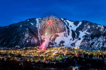A number of our properties have views of the fireworks over Aspen Mountain.  Photo courtesy Aspen Chamber Resort Association, C2 Photography (Pic)