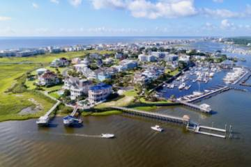 Intracoastal Waterway Aerial View the North End of Pleasure Island (Pic)