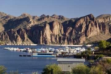 Boat Marina at a lake close to Mesa, AZ (Pic)