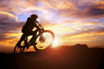 Mountain Biking events take place all year round - Fat Biking during the Winter, or Mountain Biking in our Red Rock Deserts. (Pic)