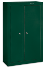 Stack-On Security Plus Full Sized Security Cabinets, all steel, key coded locks with Barrel Rests are DOJ approved.