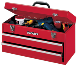 Stack-On Portable Steel Tool Chests provide storage for larger tools and stand up to daily use.  Great for the professional or handyman.