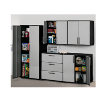 This ready to assemble garage organization system is great for the Garage, workshop, or laundry room.
