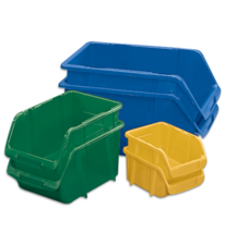 Stack-On Storage Bins are great for a wide variety of uses and come in a myriad of colors and sizes.