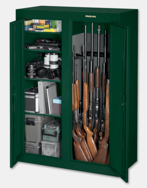 stack-on safes & cabinets: 8 gun cabinet $85/$89@walmart -- 36 gun