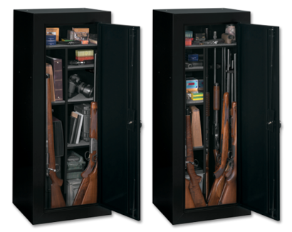Stack on products 18 gun fully convertible steel security cabinet