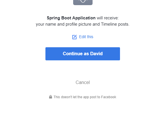 How to Access the Facebook API with Java and Spring Boot