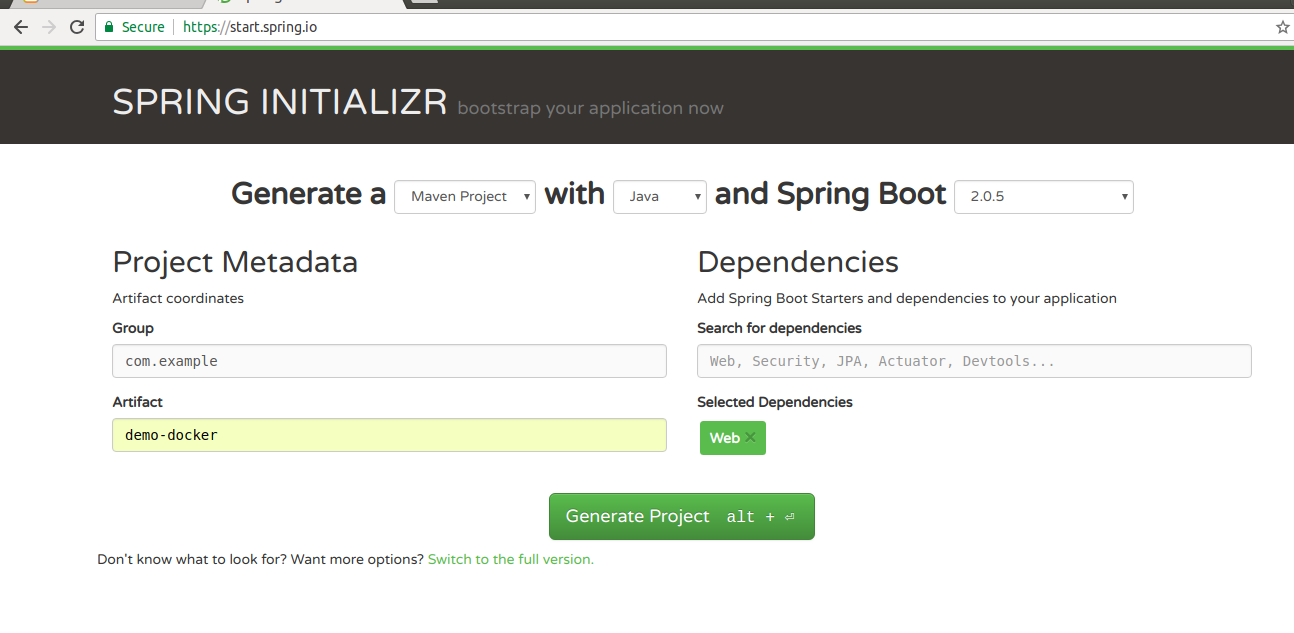Dockerizing a Spring Boot Application