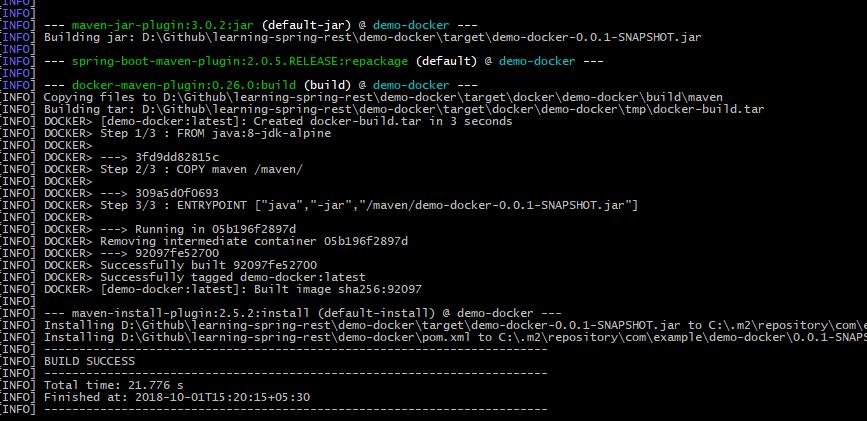 Docker build 2