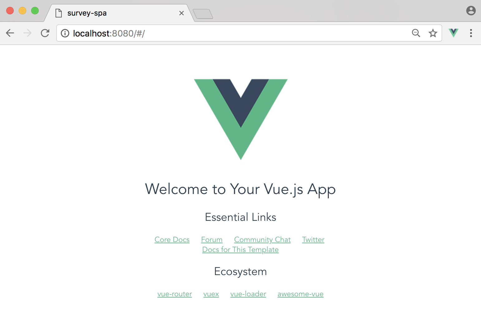 Single page apps with vuejs and flask setting up vuejs vuejs template page malvernweather Image collections