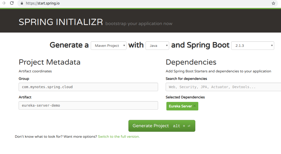 Spring Cloud: Service Discovery with Eureka